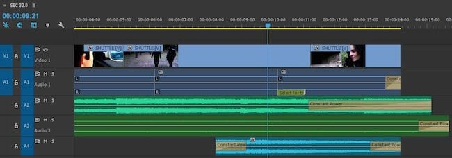 Premiere Pro editing detail